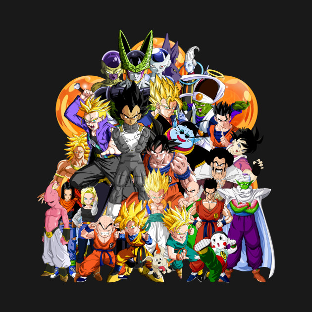 Cartoon Characters Dragon Ball Z : Dragon ball z another character collage chi t