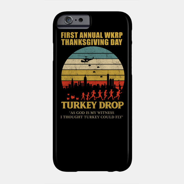 thanksgiving wkrp turkey drop TYPO Phone Case