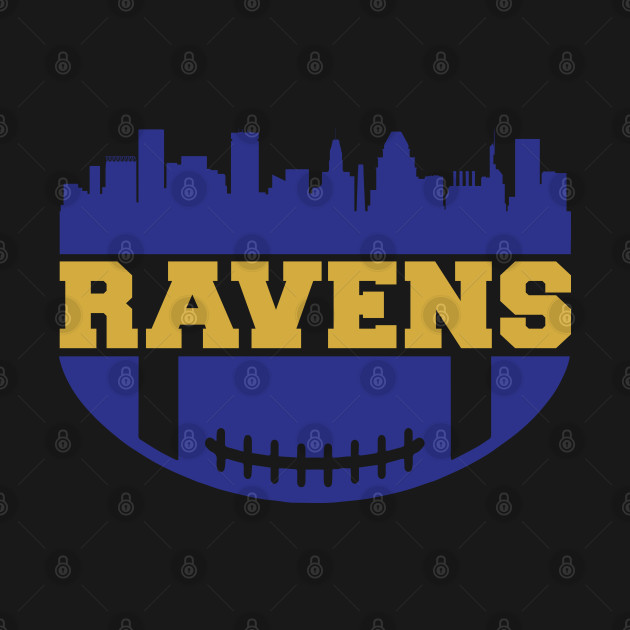 Ravens Football, Baltimore Skyline