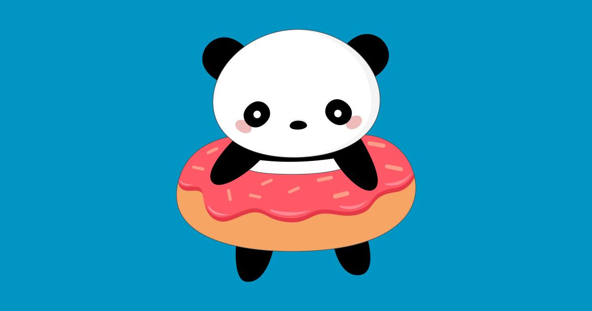 Kawaii Panda Bear Donut Panda T Shirt Teepublic