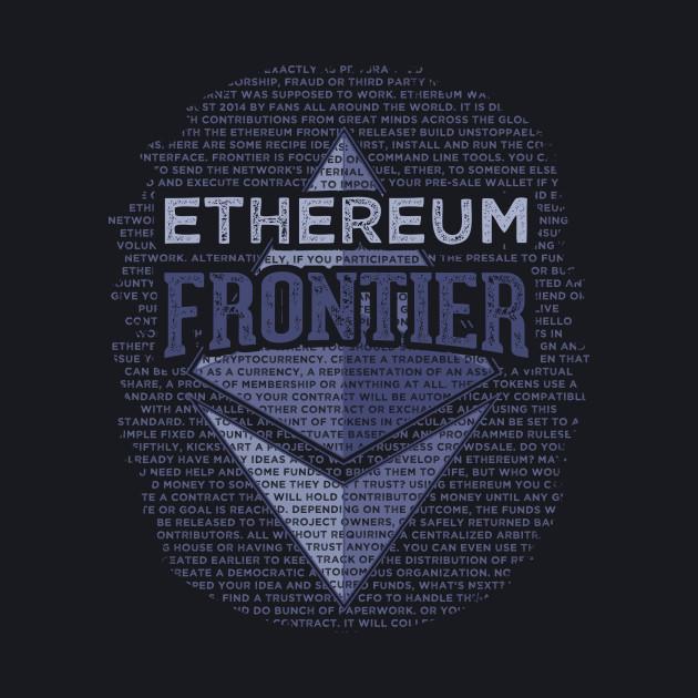 Ethereum Frontier grunge original blue on dark blue