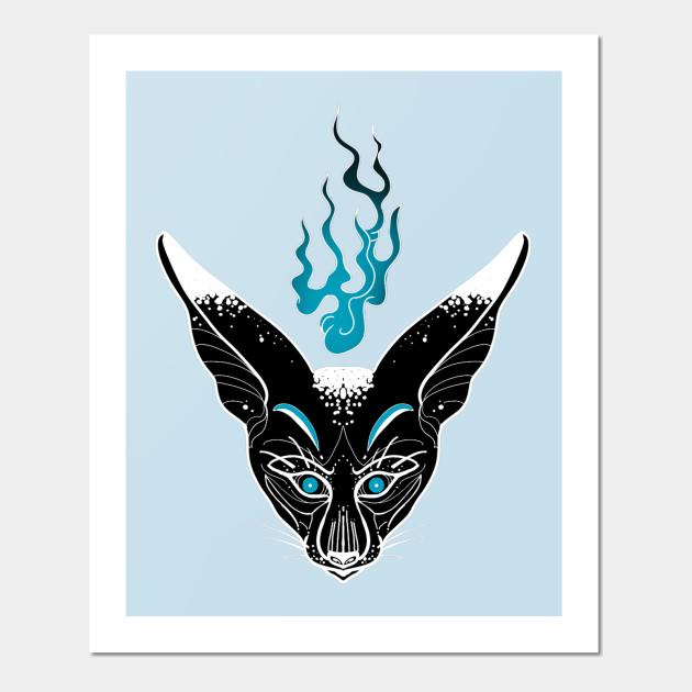 Black Fennec Fox Kitsune