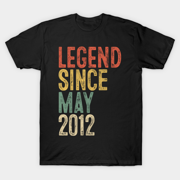 Legend 2012 T-Shirt Presents Gift ideas for 8 Year Old Boys 8th Birthday Gifts
