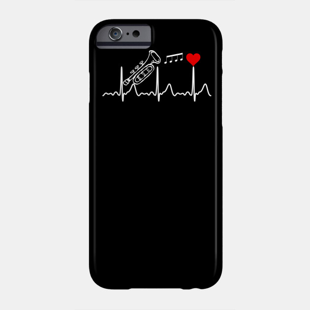 Trumpet Heartbeat Valentine's Day Heart Love Funny Gift Phone Case