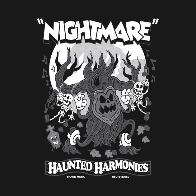 Haunted Harmonies - Vintage Cartoon Halloween - Creepy Cute Goth Horror