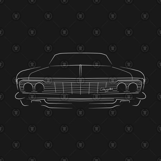 1966 Chevy Impala - front stencil, white