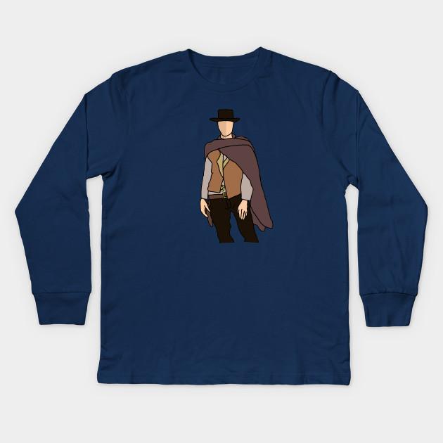 822e5e5c The Man With No Name - Western - Kids Long Sleeve T-Shirt   TeePublic