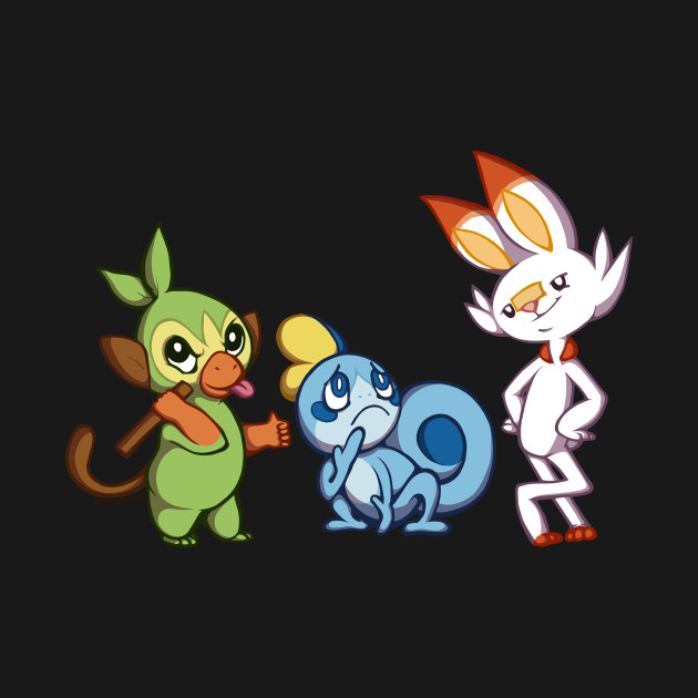 Pokemon Sword And Shield Starters Pokemon T Shirt Teepublic