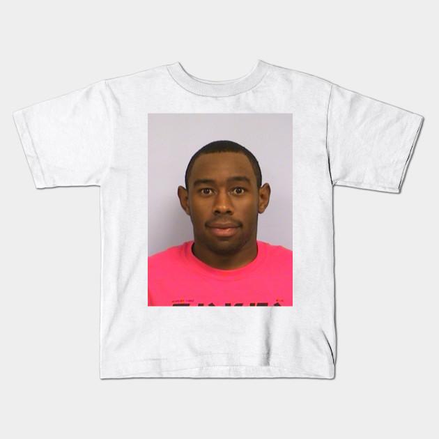 d27bd993ee5f Tyler s mugshot - Tyler The Creator - Kids T-Shirt