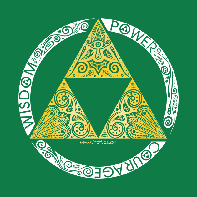 Zelda - triforce circle