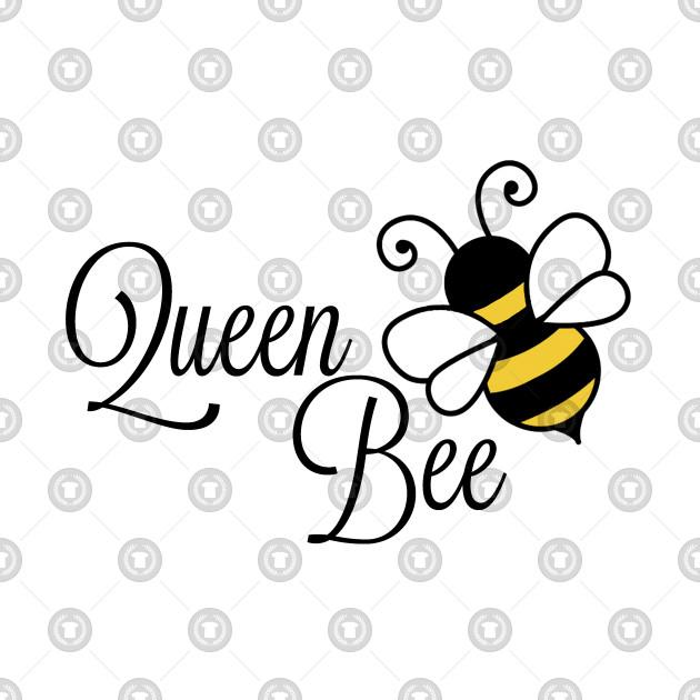 Queen Bee Black Text