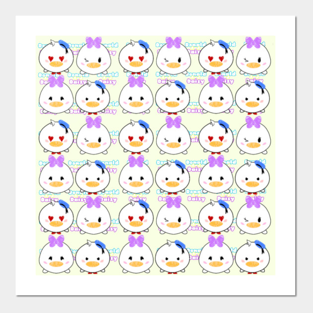 duck tsum tsum pattern donald duck posters and art prints