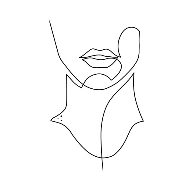 Line Drawing Face Earrings : Face drawing in one line tote teepublic