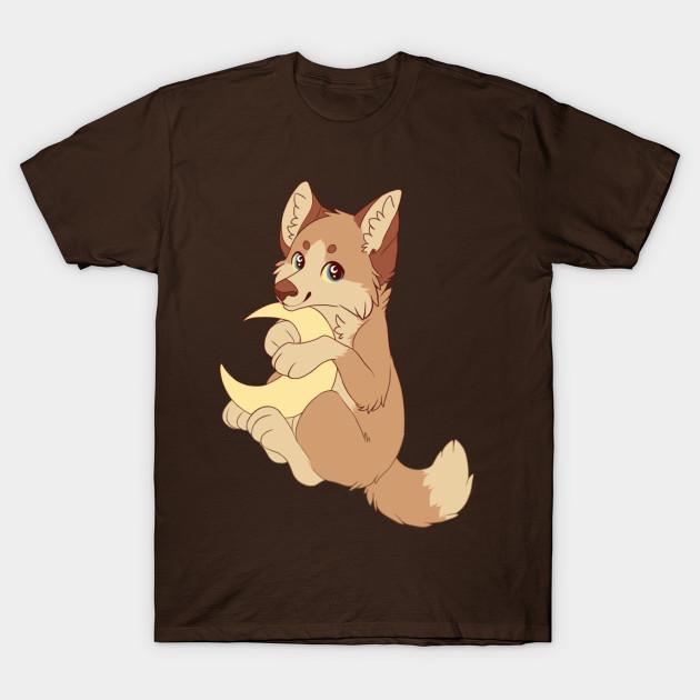 38f74113c Lunar, Cute little moon wolf - Cute - T-Shirt   TeePublic