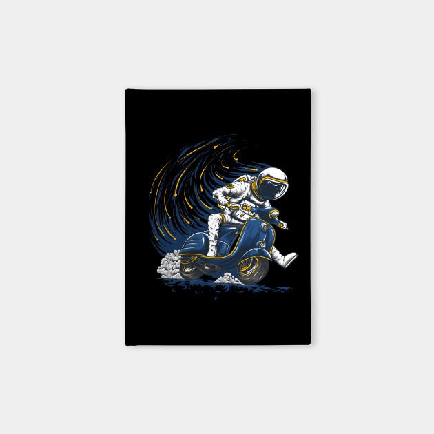 Funny Astronaut Riding Vespa
