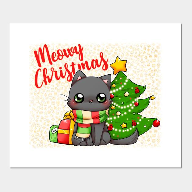 Meowy Christmas Merry Christmas Cat Card
