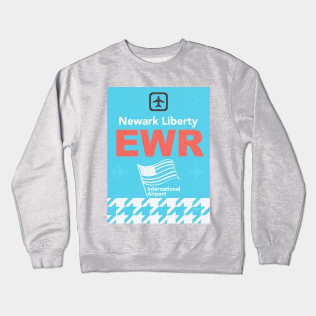 Ewr Newark Liberty Airport Code New Jersey Crewneck Sweatshirt