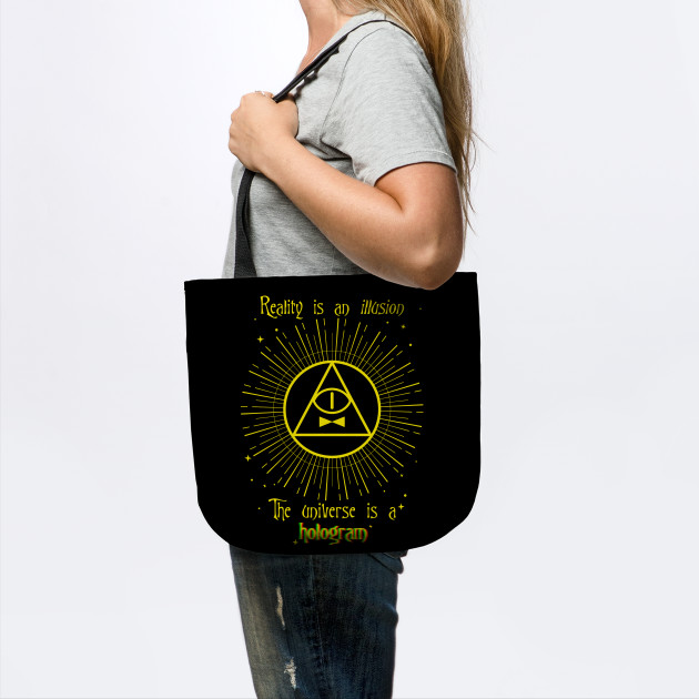 Bill Cipher Quote Bill Cipher Tote Teepublic