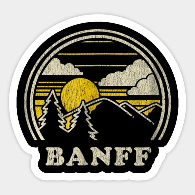 Retro Banff Alberta Canada Mountain Hiker Sweatshirt