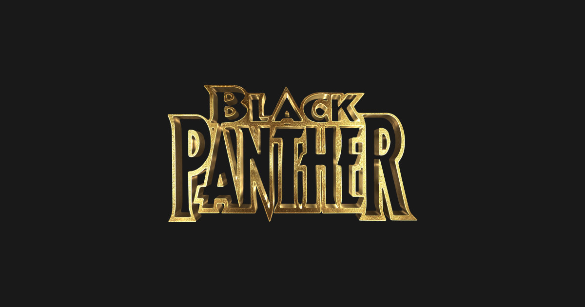 Black Panther Logo Gold - Black Panther - Sticker   TeePublic
