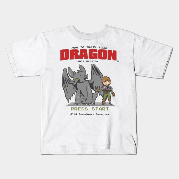 097648b6 How To Train Your Dragon 8Bit Version - Mashup - Kids T-Shirt ...