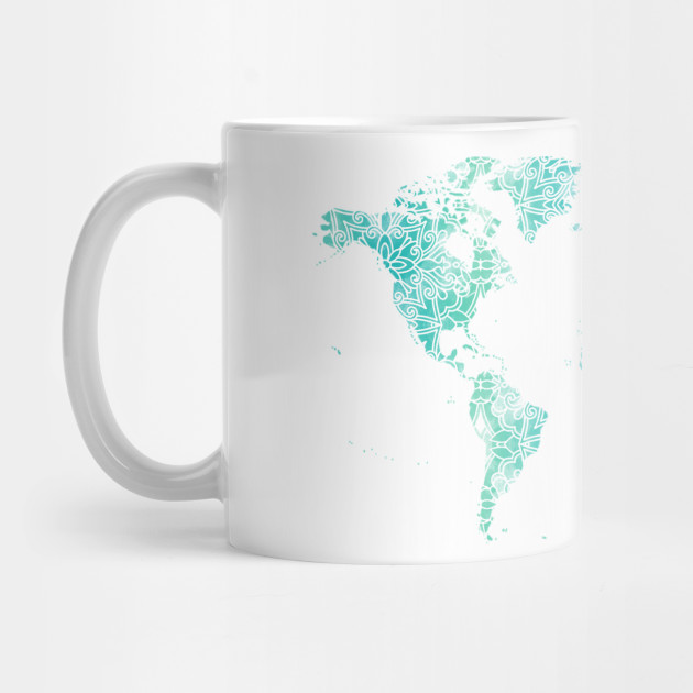 World Map Mandala World Map Mug TeePublic - Mandala map of the world