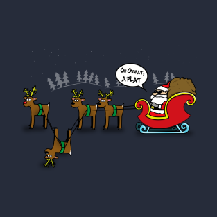 'Oh Great, A Flat' Funny Christmas Tee t-shirts