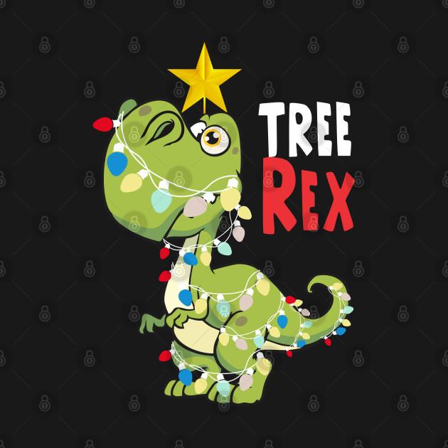 Merry Christmas Tree Rex Funny Xmas T-rex Dinosaur 2018 ...