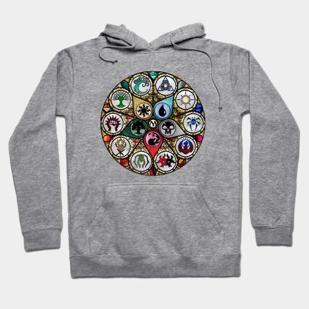 Magic The Gathering Mana Pattern Pullover Hoodie T-Shirt L XL 2XL MTG