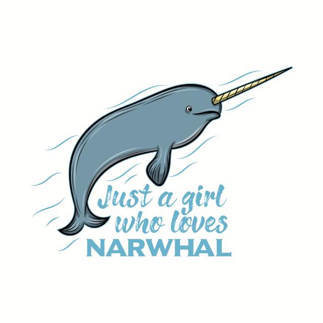 Narwhal love no Unicon Sea ocean arctic present gift idea