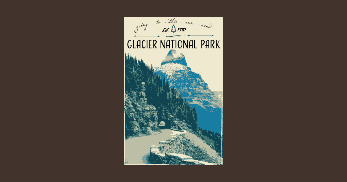 5f93e9a03e695 Glacier National Park - Going to the Sun Road T-Shirt