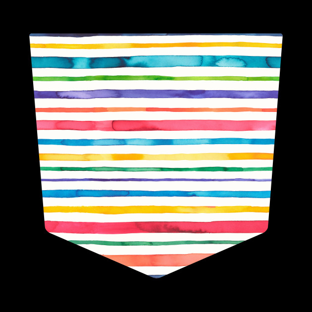 Pocket - Watercolor Stripes Multi