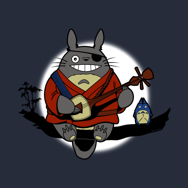Totoro And The Two Strings T-Shirt