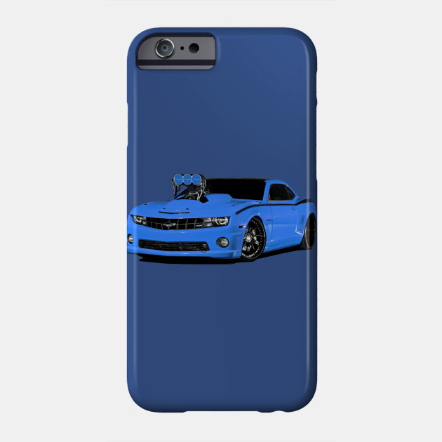 Chevy Camaro Blower Motor Hot Rod  Blue Art Phone Case