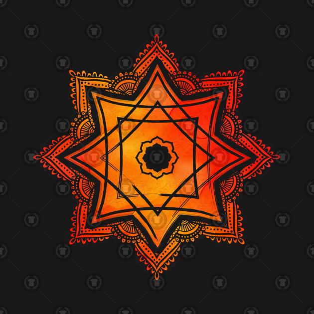 Watercolor Star of Lakshmi - Ashthalakshmi