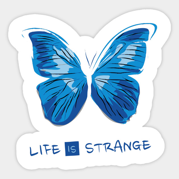 Life Is Strange Blue Butterfly Butterflies Sticker