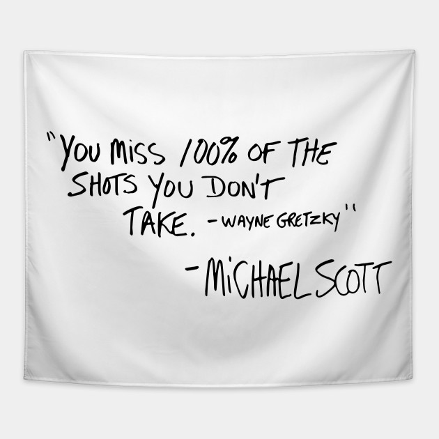 Ihopes Michael Scott Inspirational Quotes Canvas Zipper Pouch You Miss 100/% of The Shots Pencil Case//Pencil Pouch//Pen Organizer Bag Gifts for The Office Fan//Book Lovers//Kids//Friends