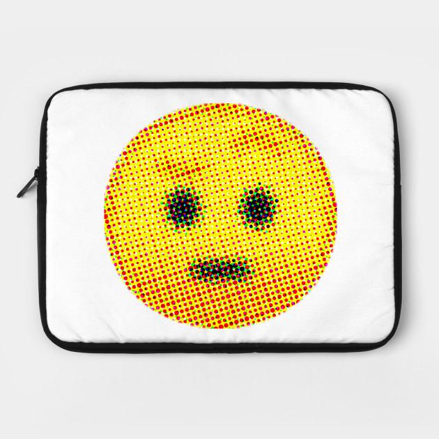 Emoji Suspicious Face With Raised Eyebrow Emojis Laptop Case