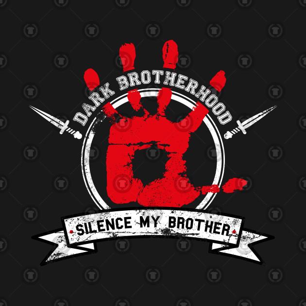 Dark Brotherhood Black Skyrim T Shirt Teepublic