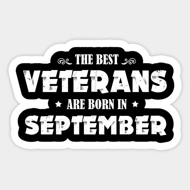 Funny Birthday Gift Best Veteran Born In September