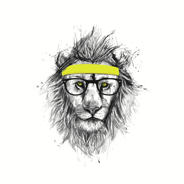 Lion hipster - photo#34