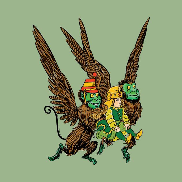 Dorothy with Flying Monkeys, Wizard of Oz