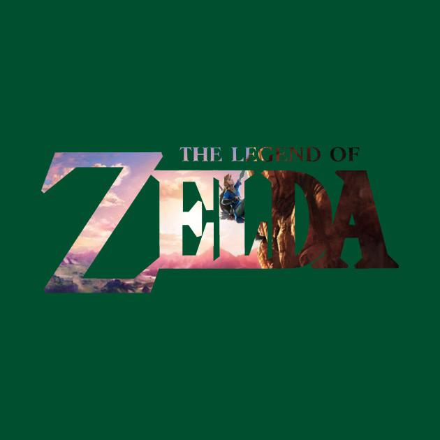 The Legend of Zelda Logo (Breath of the Wild Background)