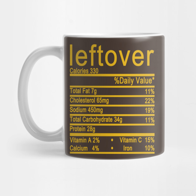 leftover nutrition thanksgiving Mug