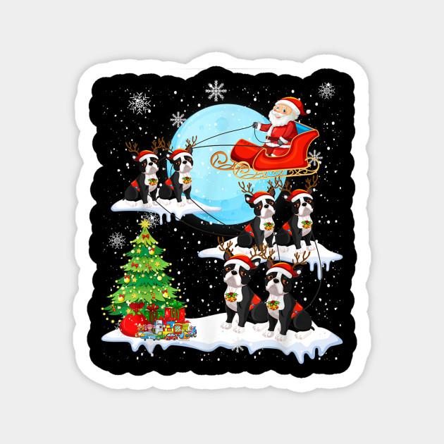 Christmas In Boston 2019.Cute Boston Terrier Reindeer Christmas 2019 Dog Gift Tshirt