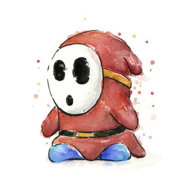 Shy Guy Watercolor