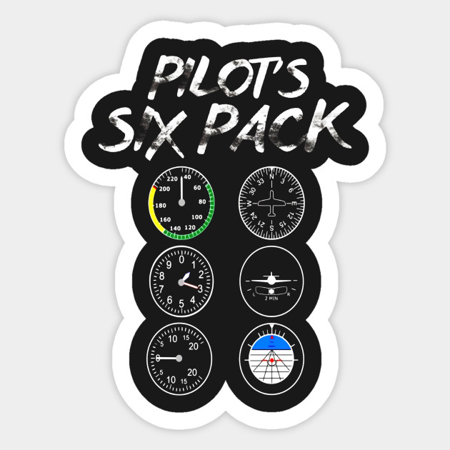 Pilot's Six Pack Aviation Lovers Funny T Shirt