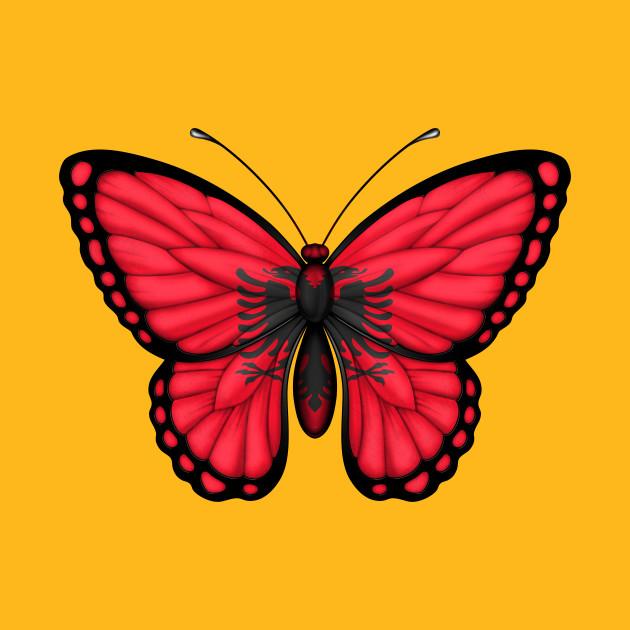 Albanian Flag Butterfly Albania TShirt TeePublic - Albanian flag