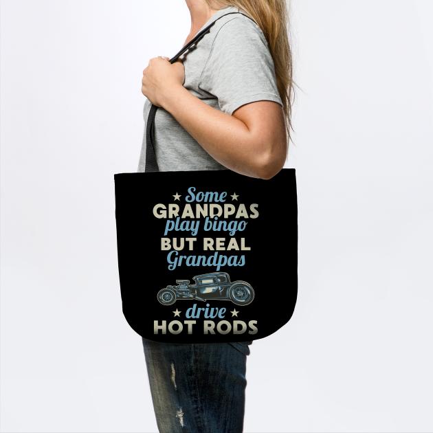 Cool Hot Rod Driver Grandpa