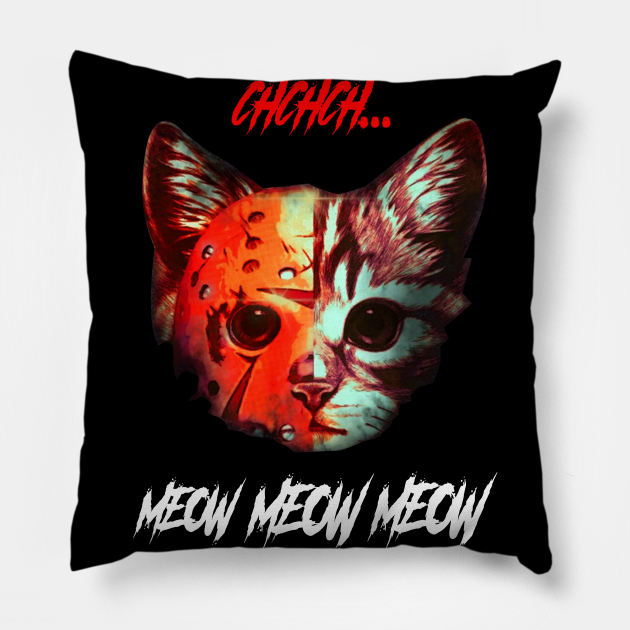 Ch Ch Ch Meow Meow Meow Cat Horror Halloween Shirt